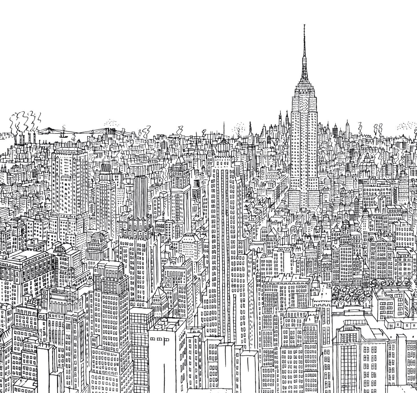 "Portada del libro ""Nueva York trazo a trazo"""