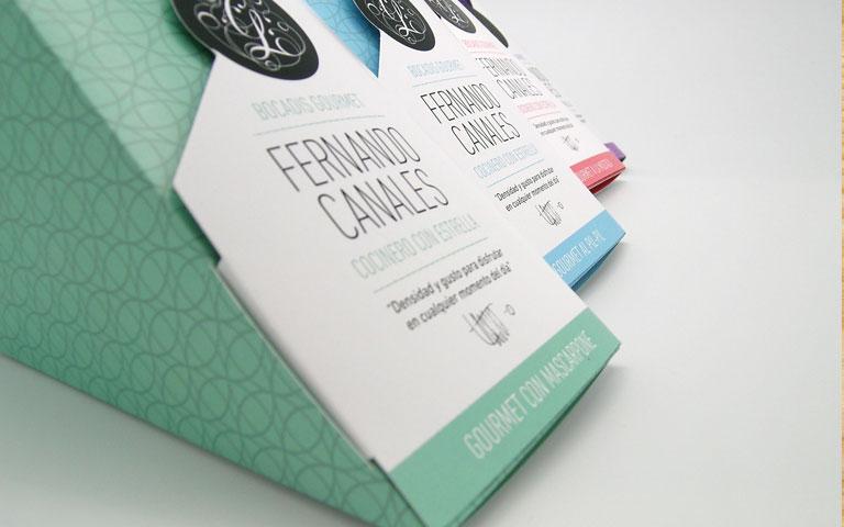 Packaging diseñado para la línea Bocadis Gourmet