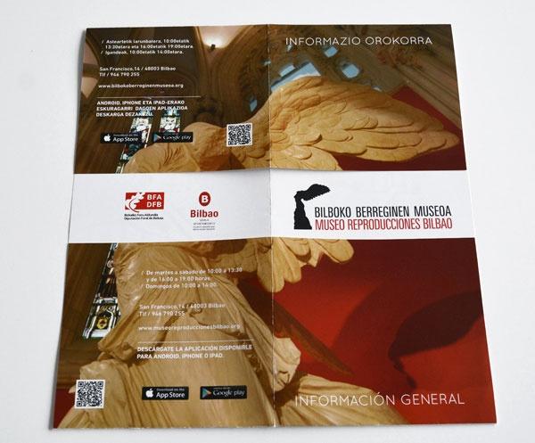 Folleto informativo Museo Reproducciones Bilbao