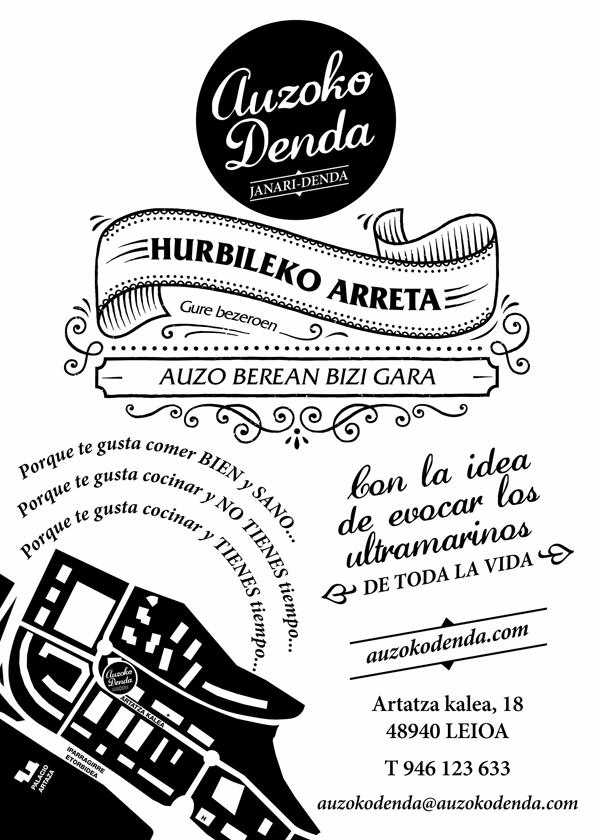 Folleto publicidad Auzoko Denda