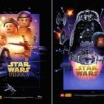 Star Wars film posters Lego