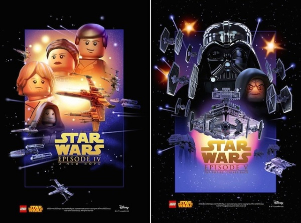 Star Wars film posters Lego