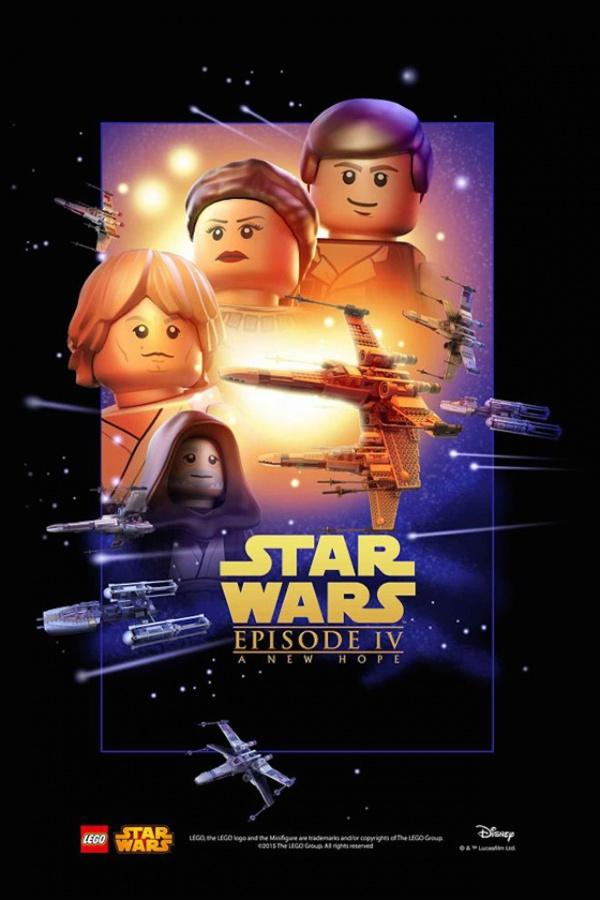 Star Wars film posters Lego episodio IV