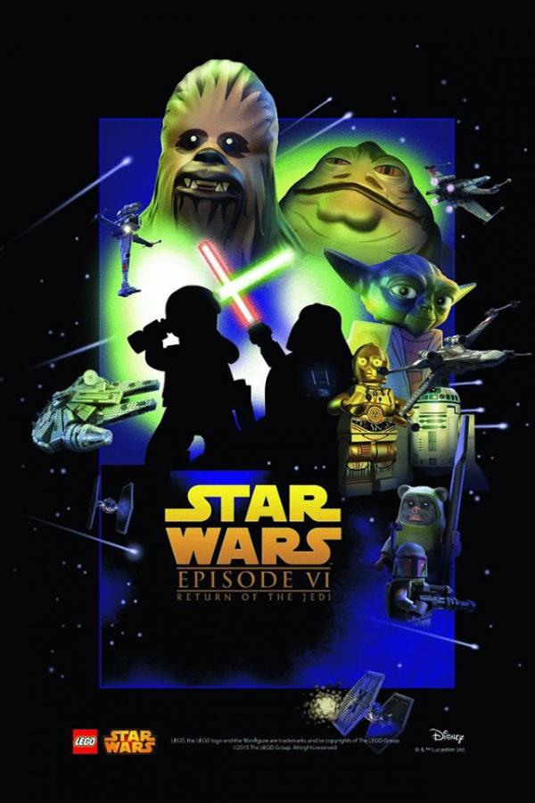 Star Wars film posters Lego episodio VI