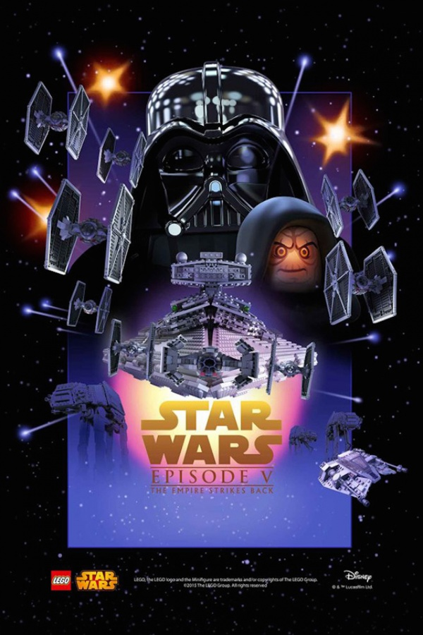 Star Wars film posters Lego episodio V