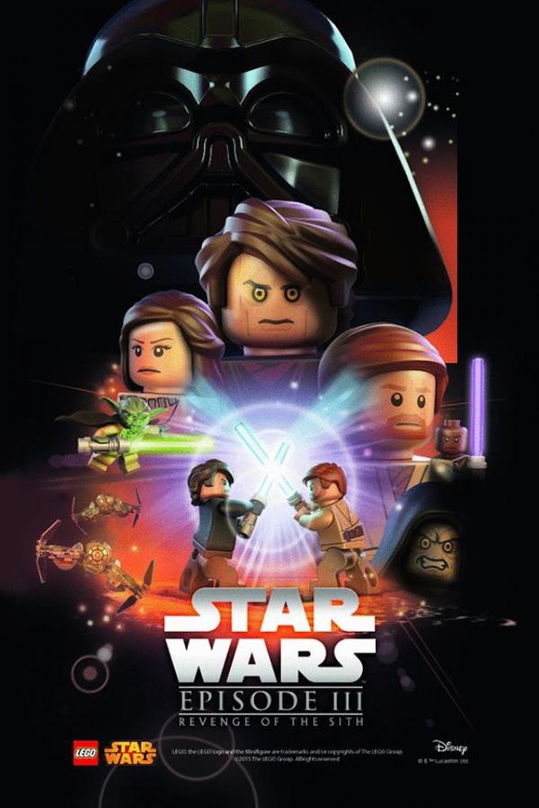 Star Wars film posters Lego episodio III
