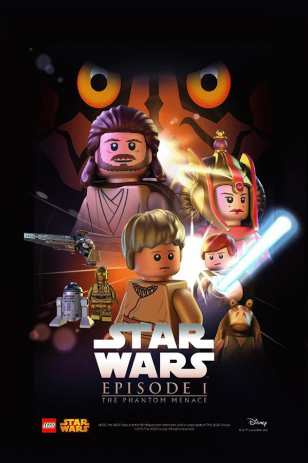 Star Wars film posters Lego episodio I