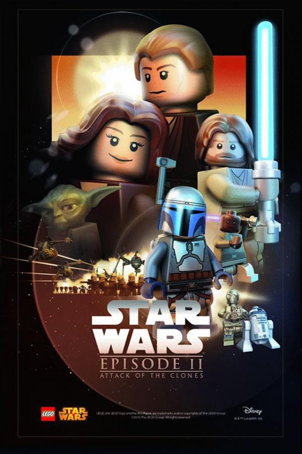 Star Wars film posters Lego episodio II