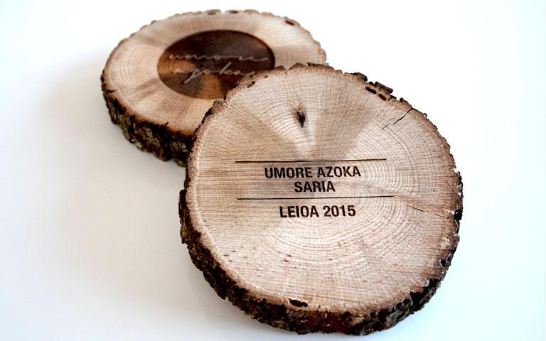 Trofeos de madera Umore Azoka