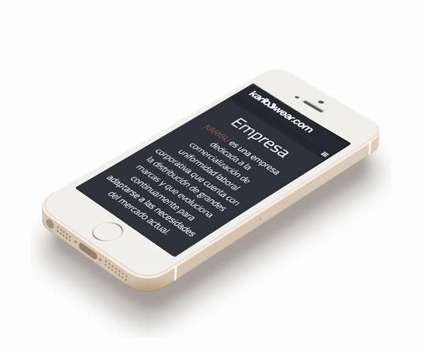 visualización en iphone karibuwear.com