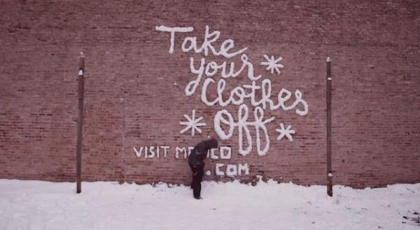 Graffiti con nieve