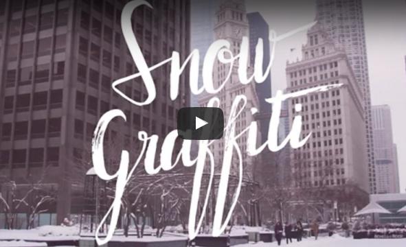 Graffiti con nieve video