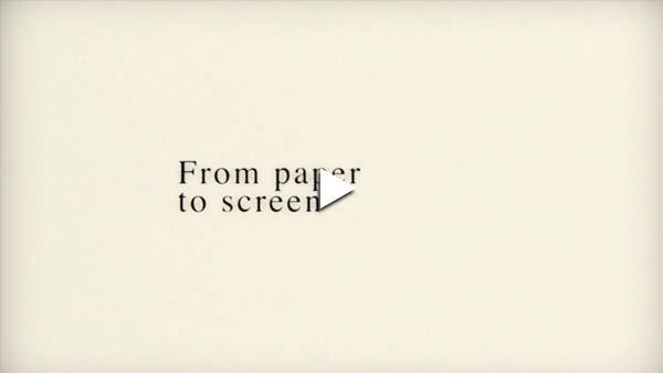 Tipografía cinética del papel a la pantalla video