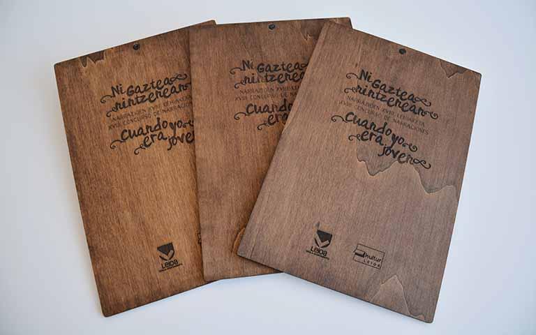 Portafolios en madera para premios Gaztetan