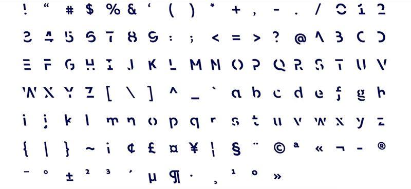sans forgetica tipografía
